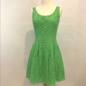 Lillly Pulitzer Green Lace Dress size 2